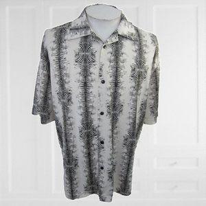 Pop Icon vintage club disco shirt zebra print XL